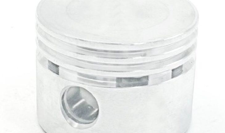 Silver 48mm Dia 12mm Bore Alum Alloy Air Compressor Engine Piston Spare Part